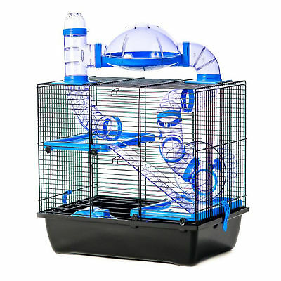Pet Ting Jackson Hamster Cage with Tubes Wheel Gerbil Mouse Mice Dwarf Hamster