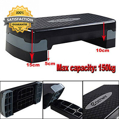 Costway Exercise Aerobic Stepper Training Yoga/Workout/Gym/Step Up Board...