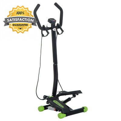 HOMCOM Mini Stepper with Handle Workout Fitness Machine Pulling Rope Sport...