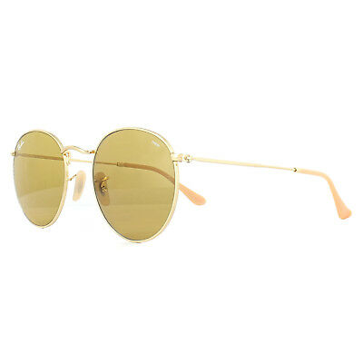 8cd4405a276c7 Ray-Ban Sunglasses Round Metal 3447 90644I Gold Brown Photochromic 53mm