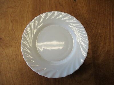 """Arcopal France TRIANON WHITE Salad Plate 7 3/4"""" Swirled Scallop 1 ea 8 available"""