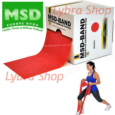 msd elastisches Band rot Rolle 22,50 MT media Primo Training -Band Pilates