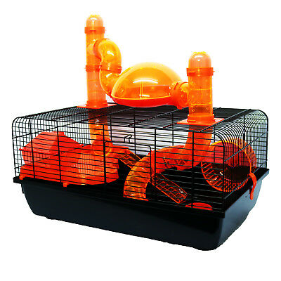 Pet Ting Jones Hamster Cage with Tubes Wheel Gerbil Mouse Mice Dwarf Hamster