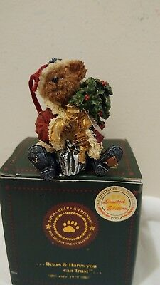 Boyds Bears And Friends Ornament NIB Mr. Baybeary 2001 Wishes Limited Edition