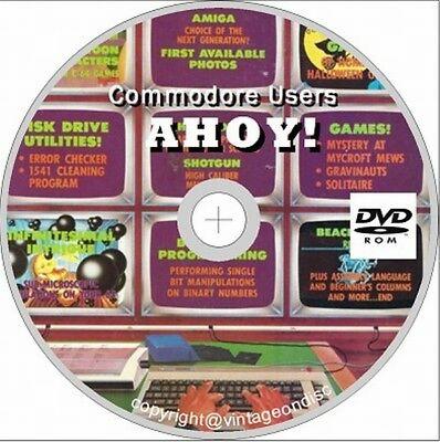 Ahoy! Commodore Users Magazine 61 Issues On DVD Rom