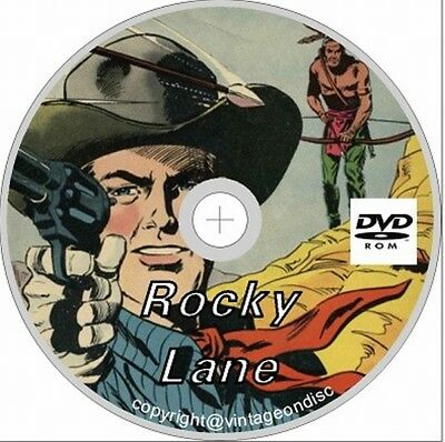 Rock lane and rocky lane blackjack western comics 45 issues on Dvd Rom