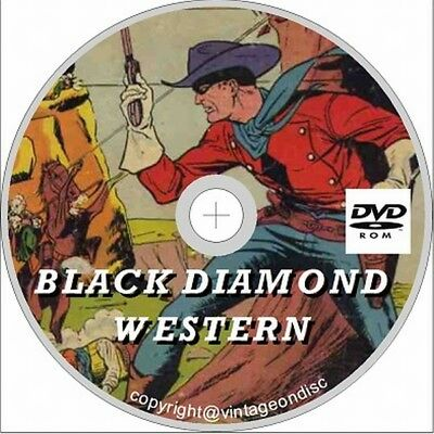 Black Diamond Western Comic 51 assorted issues on Dvd