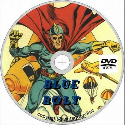 Blue Bolt Comic 101 Issues, Superhero, US, Fred Parrish