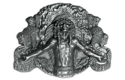 Indian Ancient Spirit Silver Belt Buckle