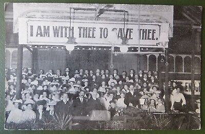 Vintage Postcard PPC, Guildford Christian Religious Revival Meeting, Bible