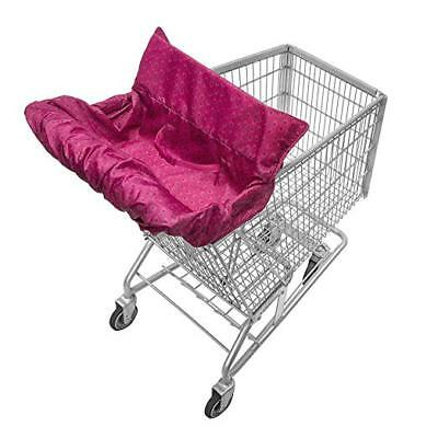 Infantino PINK Baby Infant Fold Away Shopping Cart & High Chair-Cover-NWT