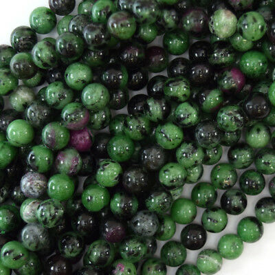 "Natural Ruby Zoisite Round Beads Gemstone 15.5"" Strand 4mm 6mm 8mm 10mm 12mm"