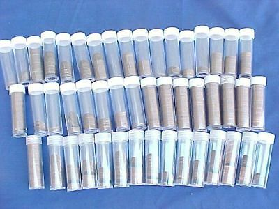 Approximately 1150 Canadian Small Cents 1937 to 1983 in Cent Tubes