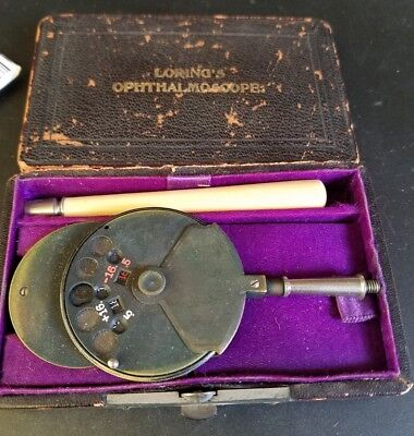 Antique Loring's Ophthalmoscope in the Original Case 1890's Retina Eye Exam