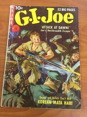 GI Joe #13 Ziff Davis Comics 1951 low grade