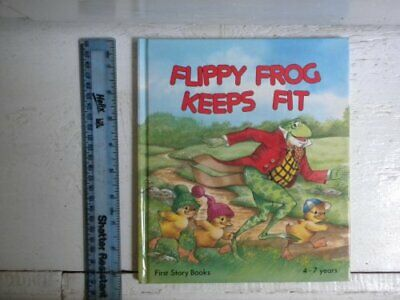 Flippy Frog Keeps Fit (I can read by myself.) by June Woodman Hardback Book The