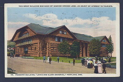 Forestry Building, 1905 Lewis & Clark Expo, 1915 Pan-Pacific Advertising Cancel