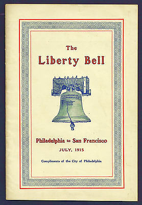 1915 Panama-Pacific Expo, Liberty Bell Exhibit Pamphlet, Souvenir Card Bonus