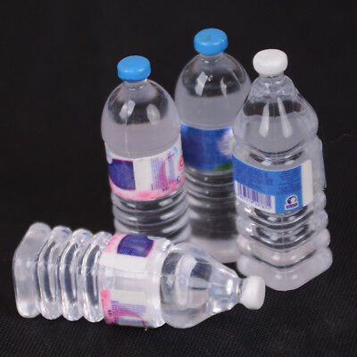 2x Bottle Water Drinking Miniature DollHouse 1:12 Accessory Collection Decor MD