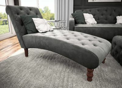 FAINTING COUCH CHAISE Lounge Chair Bedroom Tufted Gray ...