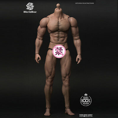 Worldbox 1/6 AT027 Durable Body - Ripped Strong Man Male Collectible Figure New