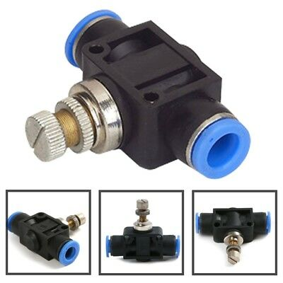 6mm Air Flow Speed Control Valve Pneumatic Push In Fitting Pipeline Throttle NEW