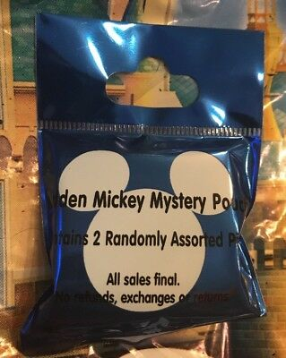 Disney Trading Pins HIDDEN MICKEY MYSTERY POUCH Blue Sealed Collectible NEW