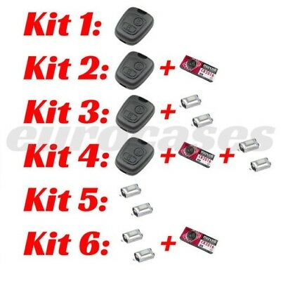 Kits Repair Key Peugeot Citroen 2 Buttons Case Switch Micro-Switch Battery