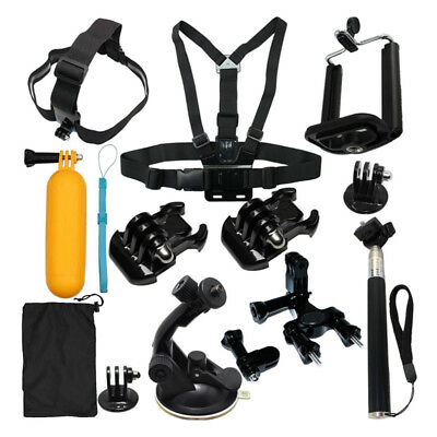 13 in1 Head Chest Mount Strap Monopod Accessories Set Kit for GoPro HD Hero1/2/3