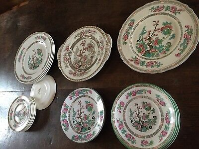 Lot de 21 Assiettes Vintage Wedgwood Porcelaine Anglaise design Indian Tree