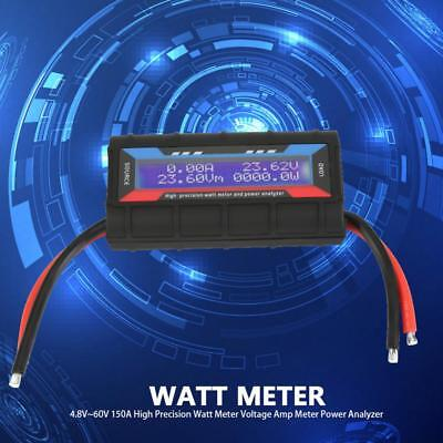 150A Current Power Meter High Precision Watt Meter Power Volt Amp DC Analyzer