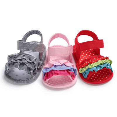 Toddler Girl Crib Shoes Newborn Soft Sole Anti-slip Baby Sneakers Sandals CY