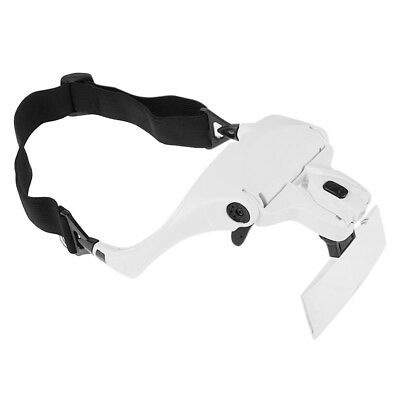 Head Magnifying Glasses with 2 LED Lights Headset Magnifier 1-3.5x 5 Glasses