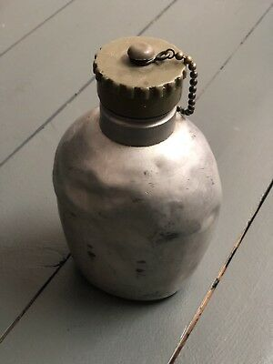 Vintage Military Army Water Bottle Can Mess Austrian German WWII WW2