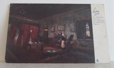 1903 Tuck Art Series 1164 postcard, Mr Pickwick's Adventure, Lady Yellow Papers