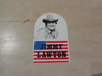 Vintage European Sticker Decal JIMMY LAWTON country Music