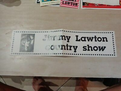 Vintage European big Sticker Decal JIMMY LAWTON country Music show