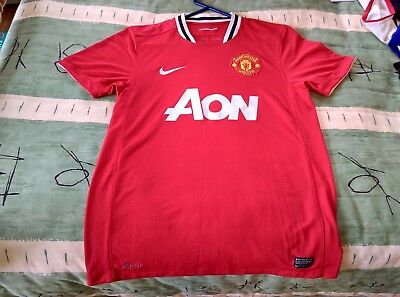 Manchester United Football Club Home Jersey 2011 to 2012 Medium Adult Nike