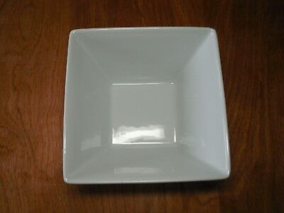 """Food Network WHIPPED CREAM WHITE SQUARE Soup Cereal Bowls 6"""" 1 ea 7 available"""