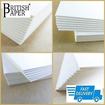 A5 A4 A3 A2 CARD STOCK BOARD BLANK 1mm - 2mm THICK PAPER MOUNT PICTURE CARDBOARD