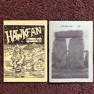 HAWKWIND • 2 x issues of HAWFAN #24 & #25 (1996) Dave Brock Hawklords space rock