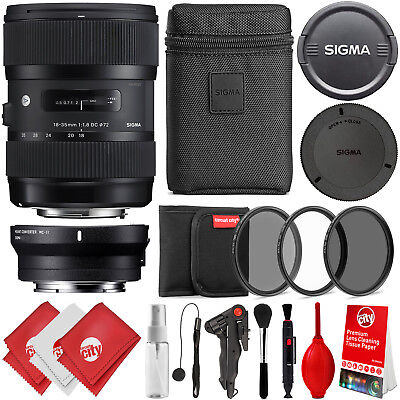Sigma 18-35mm f/1.8 DC HSM Art Lens for Sony E & Canon EF Mount Digital Cameras
