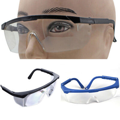 QA_ Eye Protection Anti Fog Clear Protective Vented Safety Lab Goggles Glasses