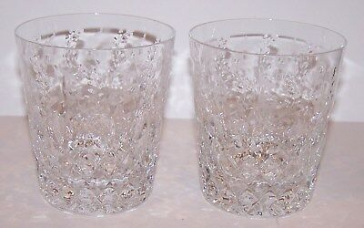 """Stunning Pair Of Rogaska Crystal Gallia 4"""" Double Old Fashioned Glasses"""