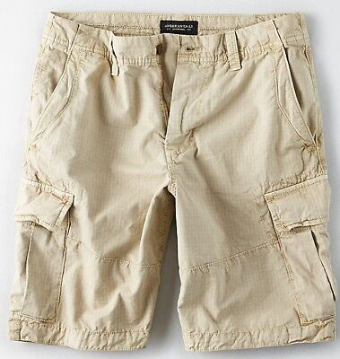 NWT American Eagle Men/'s Extreme Flex Khaki Classic Cargo Shorts 34 36 NEW