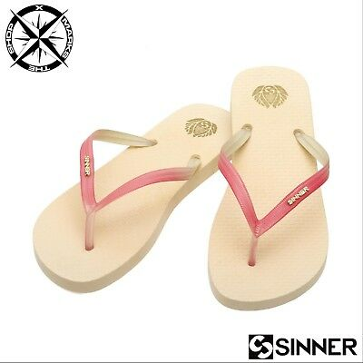 174742bad2e Sinner  natal  Womens Sandals Light Pink Uk 5 Euro 38 Flip Flops Beach Shoe
