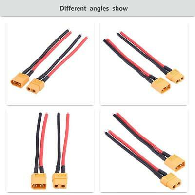 1pair XT60 Connector Male and Female W// Housing 10CM Silicon Wire 14AWG Cable