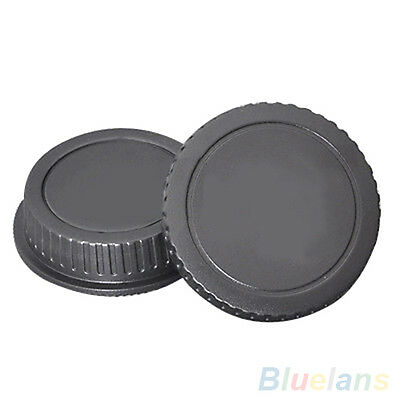 QA_ New Camera Body Cover Case+Back Lens Cover Rear Cap For Canon EOS DSLR Acc