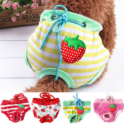 QA_ Female Pet Dog Puppy Diaper Pants Physiological Sanitary Panty Underwear P