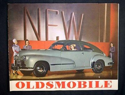 Vintage 1946 Oldsmobile Full Color Catalog Post-World War II Hydra-Matic Drive